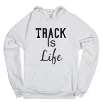 Track Is Life-Unisex White Hoodie