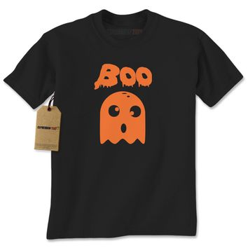 BOO Funny Ghost Halloween Mens T-shirt