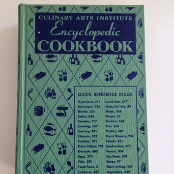 Vintage Culinary Arts Institute Encyclopedic Cookbook First Edition 1950 by Ruth Breolzheimer