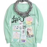 Sequin Scarf 2fer Tunic | Girls Long Sleeve Tops | Shop Justice