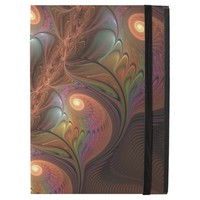"""Colorful Fluorescent Abstract Modern Brown Fractal iPad Pro 12.9"""" Case"""