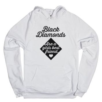 Black Diamonds (sweatshirt)-Unisex White Hoodie