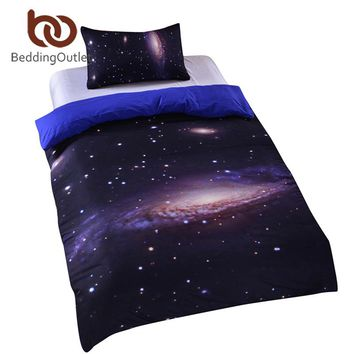 BeddingOutlet Hipster Galaxy Bedding Set Universe Outer Space Themed 3d Print Duvet Cover with Pillowcases Soft Home Textiles