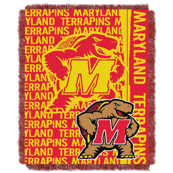 Maryland Terps NCAA Triple Woven Jacquard Throw (Double Play Series) (48x60)