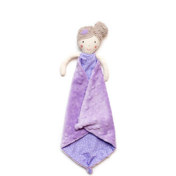 Security Blanket, Princess Doll, Handmade Rag Doll, Baby Girl Gift, Baby Shower Gift