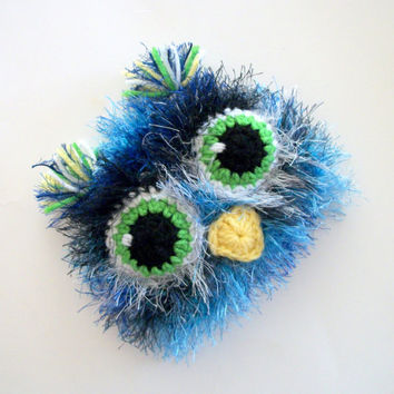 Owl Hats Newborn Hats Baby Owl Hat Blue Owl Hats Ski by YumbabY