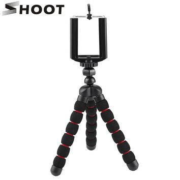 SHOOT Flexible  Small Octopus Tripod For Gopro SJCAM Xiaoyi Nikon Canon SONY Digital Cameras With Phone Clip For Mobile Phone