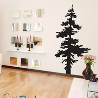 Vinyl Wall Decal Sticker Single Pine Tree #187