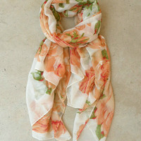 Feminine Rose Scarf [4351] - $12.00 : Vintage Inspired Clothing & Affordable Dresses, deloom | Modern. Vintage. Crafted.