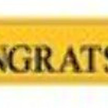 graduation foil banner - yellow Case of 12