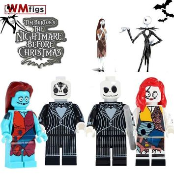 Single Coco Day of the Dead Legoings Jack Skellington Pinhead Skeleton Halloween Bricks Building Blocks Toys for Children Gifts