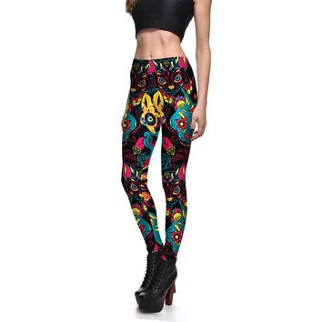 Colorful Cats Printed Leggings For Women