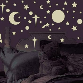 Celestial Glow in the Dark Stars - 258pc Wall Sticker Set