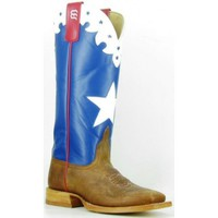 Anderson Bean Cowboy Boots American Blue Star Inlay Square Toe Kids Cowboy Boots