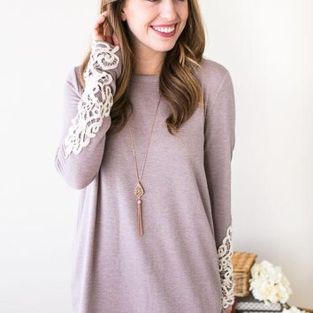 Hand It Over Embroider Sleeve Top