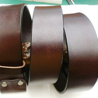 chocolate brown leather handmade man's belt
