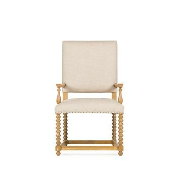 JUSTIN ARM CHAIR - TEXTURED LINEN