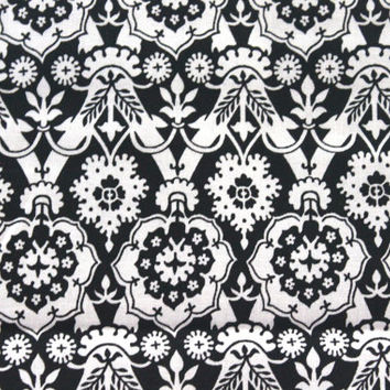 Alexander Henry - Ghastlie Family Collection - Ghastile Black and White Tapestry Fabric - One Yard