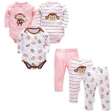 Baby Girl Clothes Boy Winter Clothes+pant for Kids 0-9M 100%cotton Bebe Set Newborn Clothing Gift Roupas De Bebe Menino