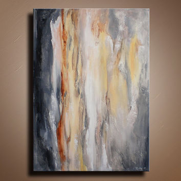 Original Abstract Textured Painting on Canvas Contemporary Abstract Modern Art Wall Hanging Gray Beige wall decor home decor