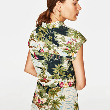 TROPICAL PRINT SHIRT - Tops-STARTING FROM 50% OFF-WOMAN-SALE | ZARA United States