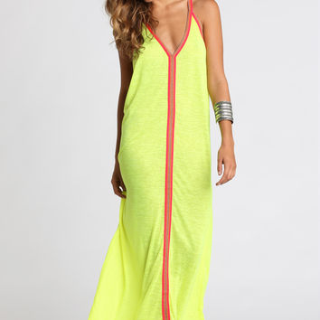 Pitusa Inca Sun Dress in Lemon
