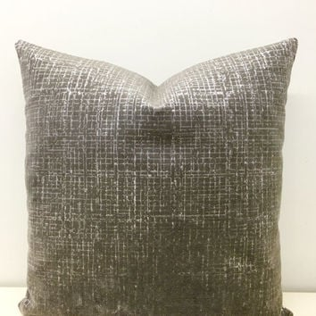 Grey Velvet Pillow Cover, Velvet Pillow, Grey Throw Pillow,Gray Velvet Cushion,Cushion Covers,Decorative Pillow,Couch Throw Pillow Covers