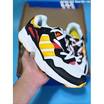 HCXX A328 Adidas Yeezy 600 Ratro Casual Running Shoes White Yellow Black