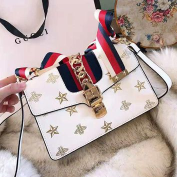 GUCCI High Quality Fashion Women Leather Handbag Tote Shoulder Bag Crossbody Satchel