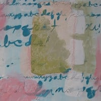 Le pot caché - Des mots dans mes pots Shabby Chic Mixed Media art