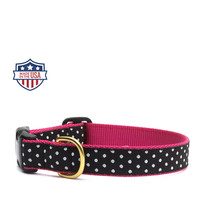 "Up Country Dog Collar - 5/8"" or 1"" width - Dots"