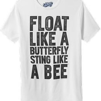 "Men's Muhammad Ali™ ""Float Like A Butterfly Sting Like A Bee"" Tees"