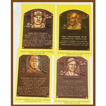 ca1960s Baseball Hall of Fame Postcards, Cy Young, etal