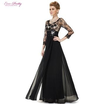 63de3f59e9be 3/4 Sleeve Sheer Lace Rhinestone V-neck Evening Gown