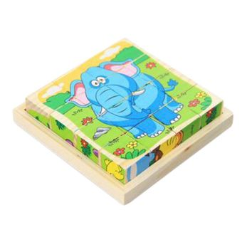 Educational Toy for Kids 3D Wooden Puzzle Jointed Board Cube Puzzle Building Block NO.03