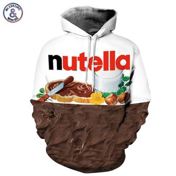 Mr.1991INC New Autumn Winter Men/women Hoodies With Cap Print Nutella Food Hip Hop Hooded 3d Sweatshirts Hoody Tracksuits Tops