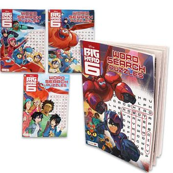 Disney's Big Hero 6 Word Search Book - 96 Pages - 72 Units