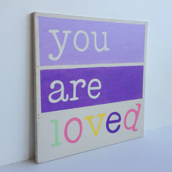 Hand Painted Wood Sign Inspirational Art for by SweetBananasArt