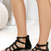 Cabana Cutie Black Gladiator Sandals
