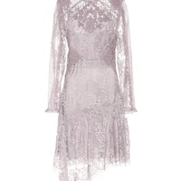 Stranded Appliqué silk lace dress