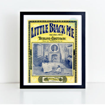 "Vintage Wall Art, ""Little Black Me"" Movie Poster, African American, African Vintage, Vintage Print,  Instant Download, African Images"