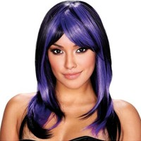 Brianna Black and Purple Wig- Party City