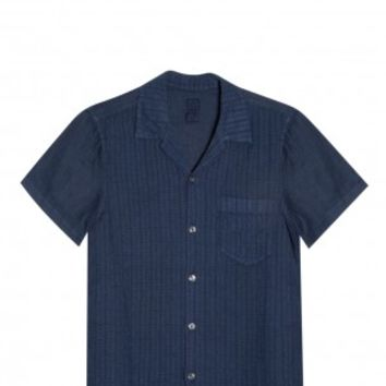 Boutique 1 - 120% LINEN - Navy Relaxed Shirt | Boutique1.com