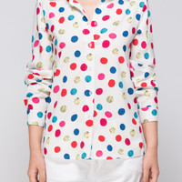COLORFUL CANDY POLKA DOTS SHIRT