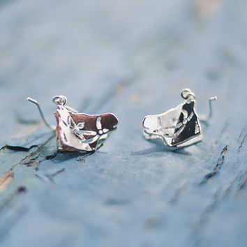 Silver Horse Head Earrings by Meg C