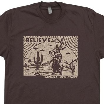 Roswell Jackalope T Shirt New Mexico Shirt UFO T Shirt Vintage Science Fiction Tee