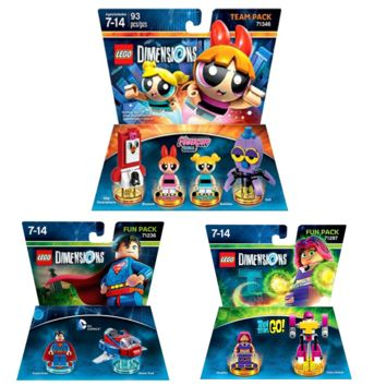 Lego Dimensions Powderpuff Girls Teen Titan Go DC Superman By LEGO Dimensions | Games Powerpuff Girls Level Pack Teen Titan Go Fun Pack DC Superman Fun Pack