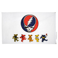 Grateful Dead - Steal Your Face & Dancing Bears Flag on Sale for $14.99 at HippieShop.com