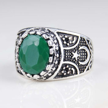 2015 Vintage Jewelry Green Lantern The Black Friday Ring Wedding Engagement Rings For Men And Women