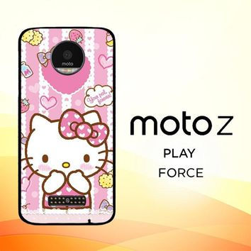 Hello Kitty Candy Pink L1944 Motorola Moto Z Force Case